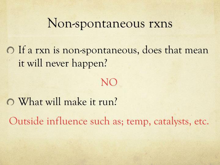 Non-spontaneous