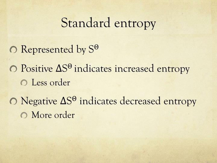 Standard entropy