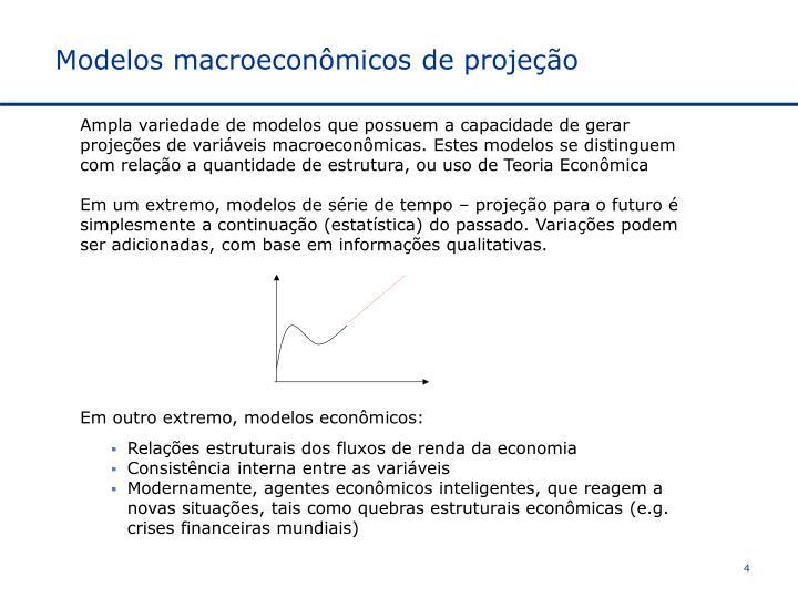 Modelos macroeconômicos de projeção