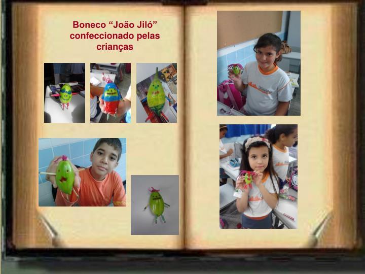 """Boneco """"João Jiló"""" confeccionado pelas crianças"""
