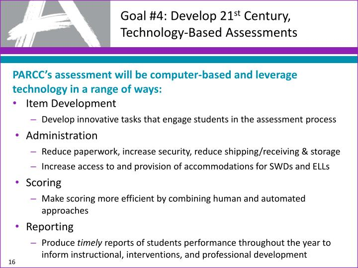 Goal #4: Develop 21