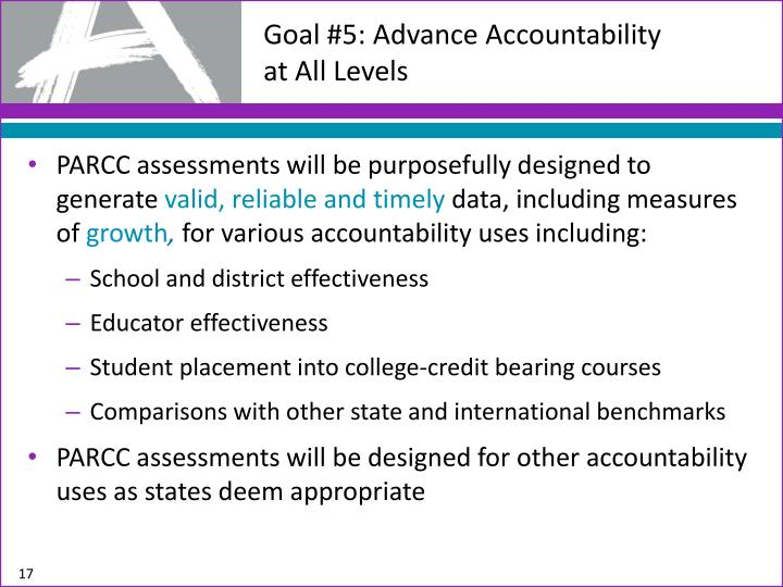 Goal #5: Advance Accountability