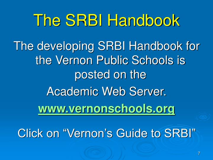 The SRBI Handbook
