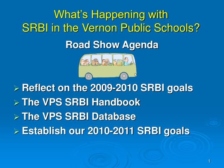 What s happening with srbi in the vernon public schools