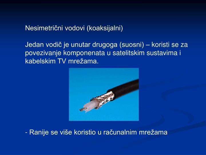 Nesimetrični vodovi (koaksijalni)