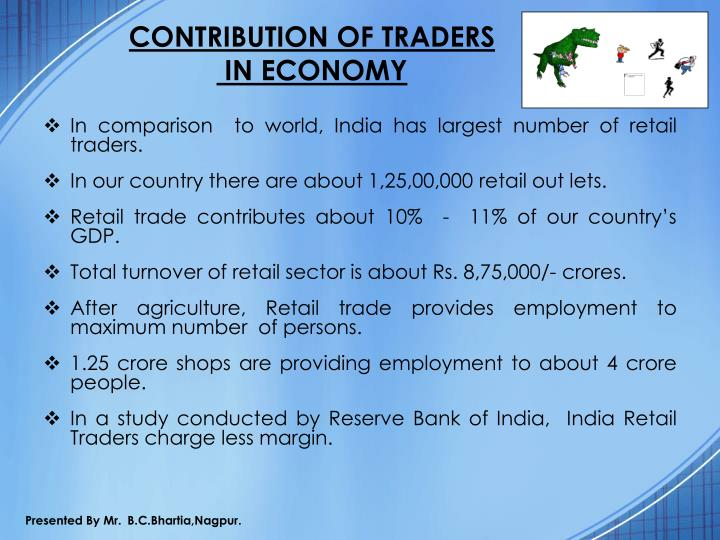 CONTRIBUTION OF TRADERS