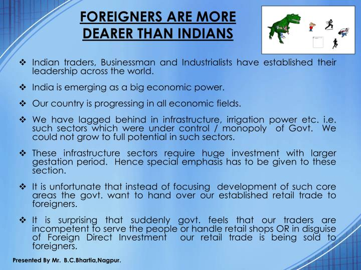 FOREIGNERS ARE MORE