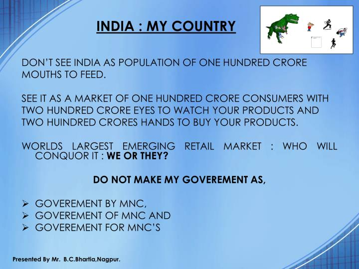 INDIA : MY COUNTRY