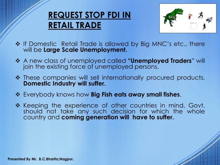 REQUEST STOP FDI IN