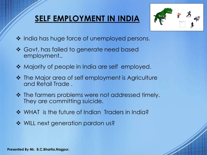 SELF EMPLOYMENT IN INDIA