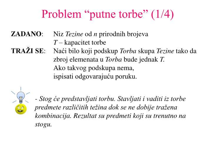"""Problem """"putne torbe"""" (1/4)"""