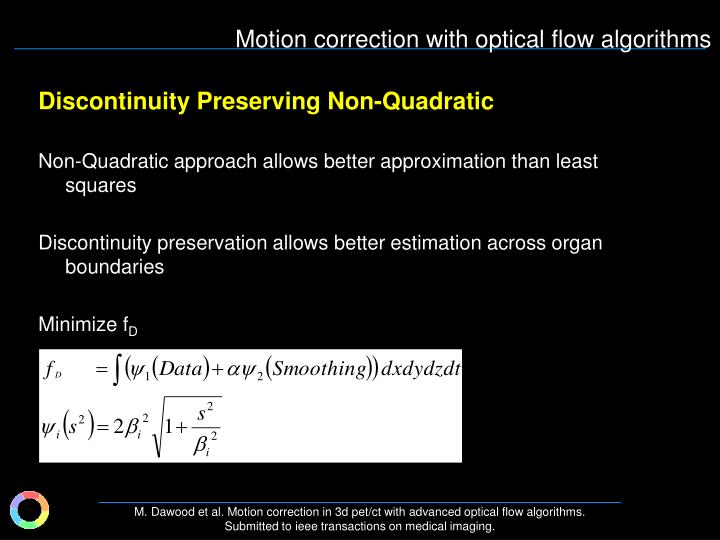 Discontinuity Preserving Non-Quadratic