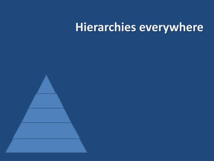 Hierarchies everywhere