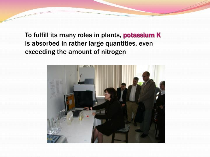 To fulfill its many roles in plants,