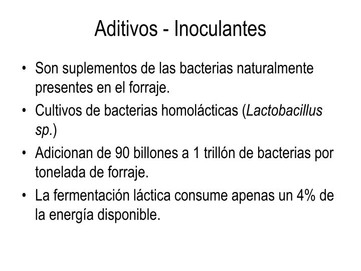 Aditivos - Inoculantes