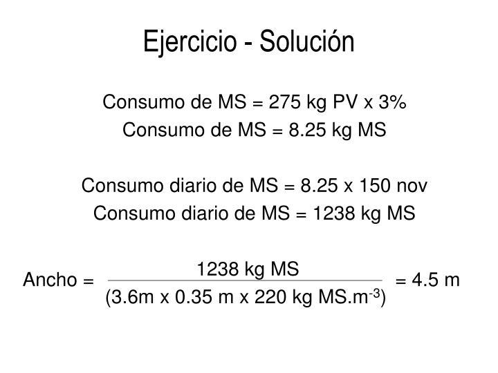 Ejercicio - Solución