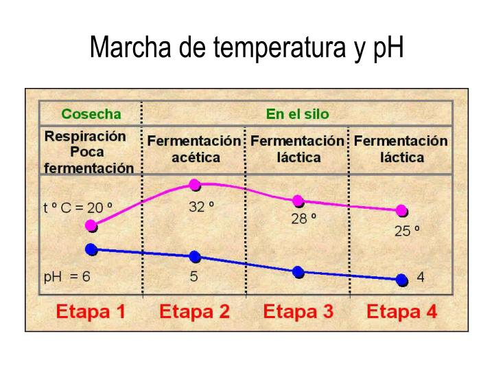 Marcha de temperatura y pH