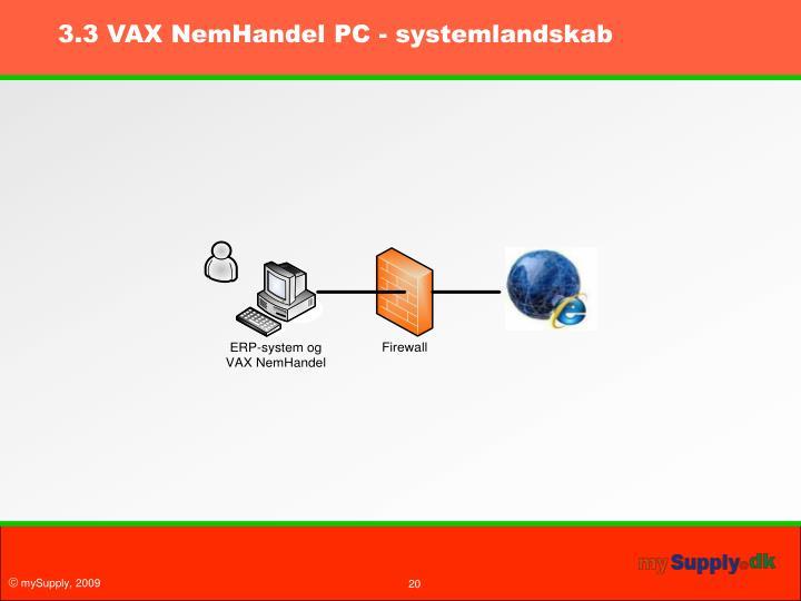 3.3 VAX NemHandel PC - systemlandskab
