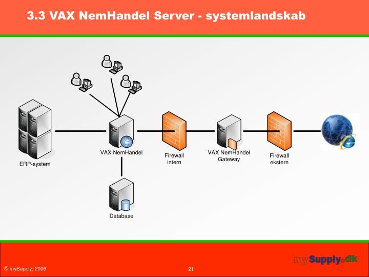 3.3 VAX NemHandel Server - systemlandskab