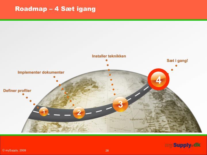 Roadmap – 4 Sæt igang