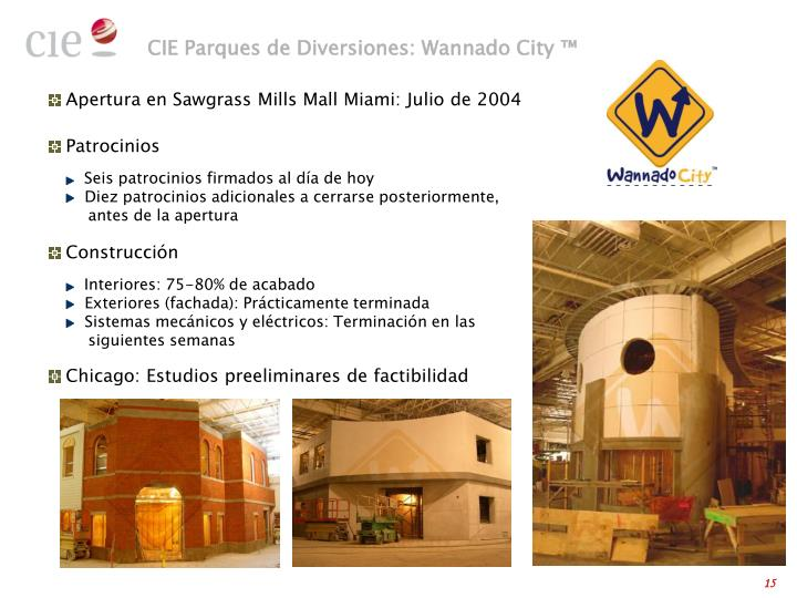 CIE Parques de Diversiones: Wannado City