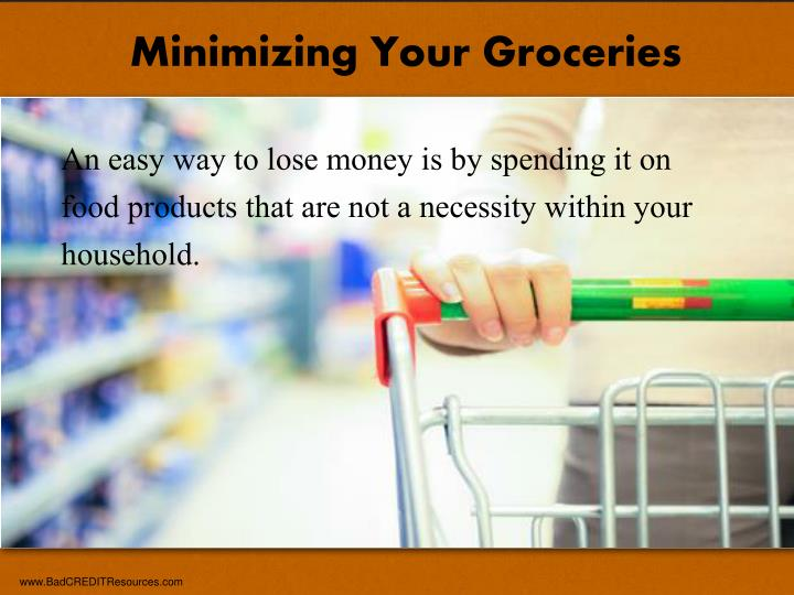 Minimizing Your Groceries