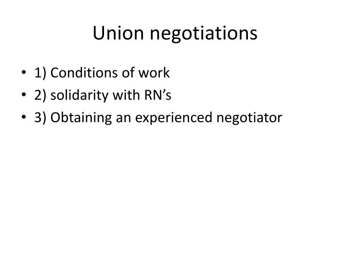 Union negotiations