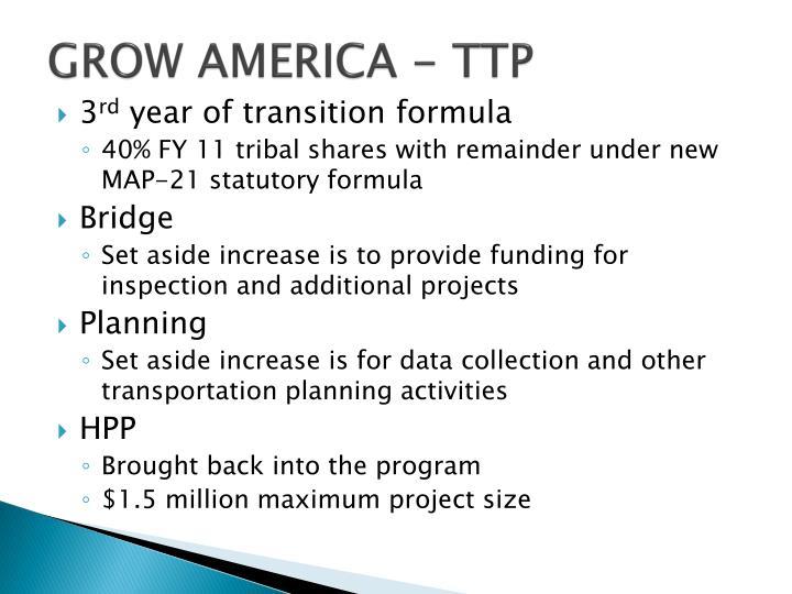 GROW AMERICA - TTP