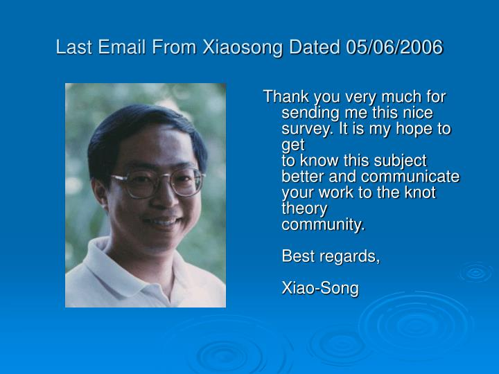 Last Email From Xiaosong Dated 05/06/2006