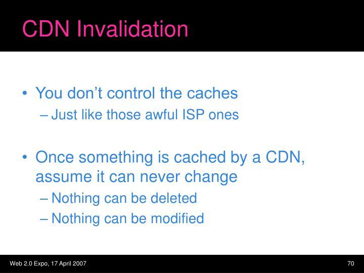 CDN Invalidation