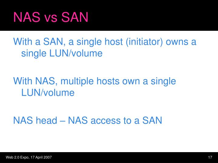 NAS vs SAN