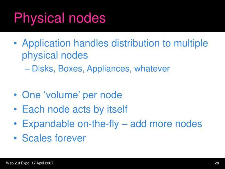 Physical nodes