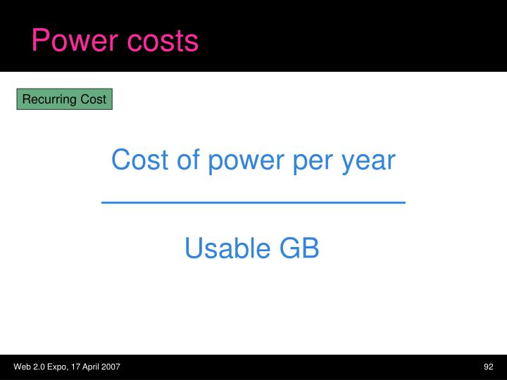 Power costs