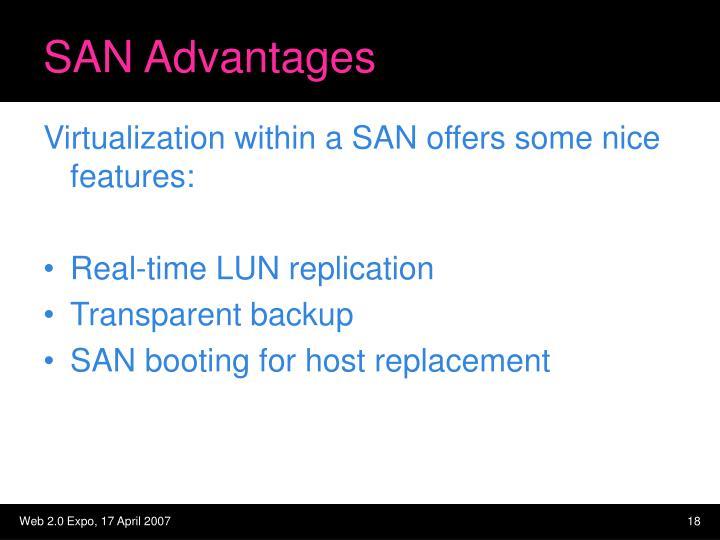 SAN Advantages