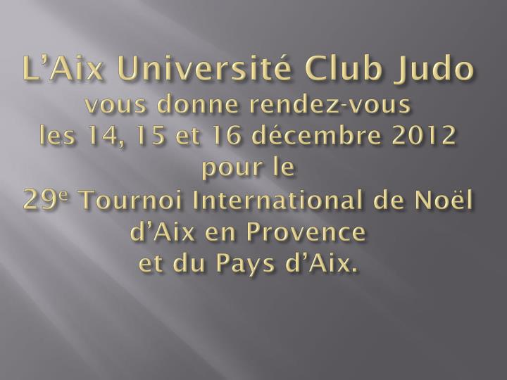 L'Aix Université Club Judo