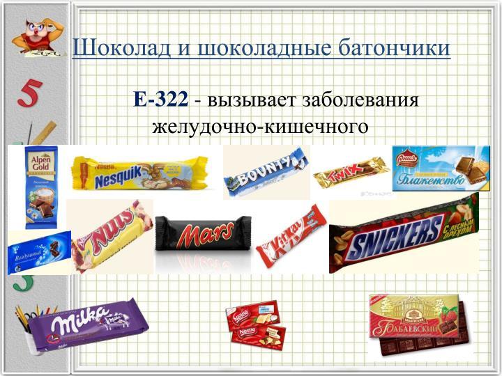 Шоколад и шоколадные батончики
