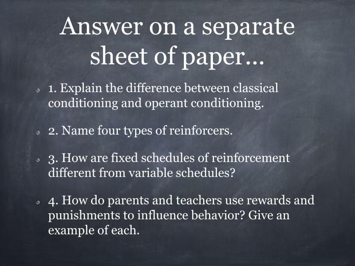 Answer on a separate sheet of paper...