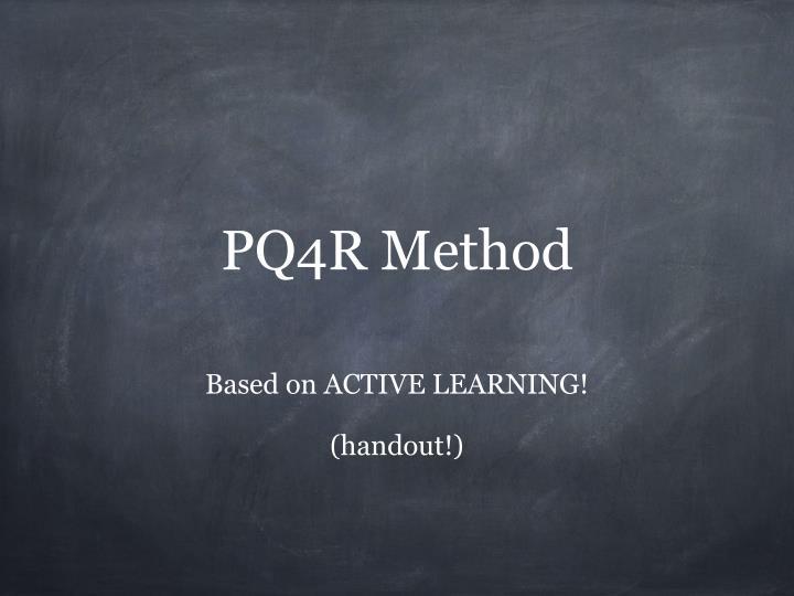 PQ4R Method