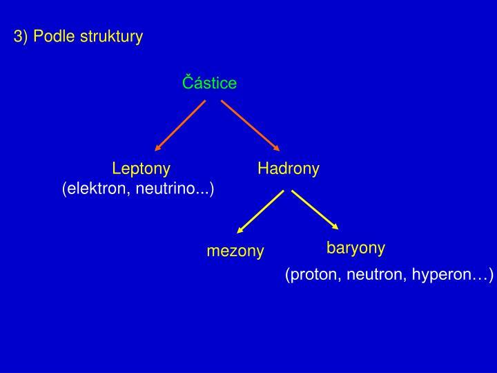 3) Podle struktury