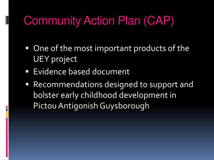 Community Action Plan (CAP)