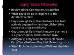 early years networks