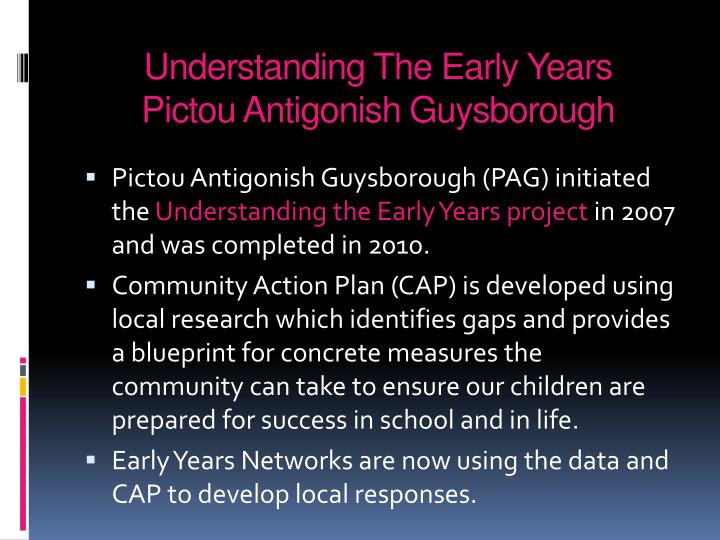 Understanding the early years pictou antigonish guysborough