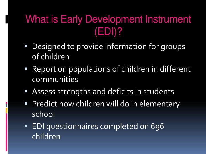 What is Early Development Instrument (EDI)?