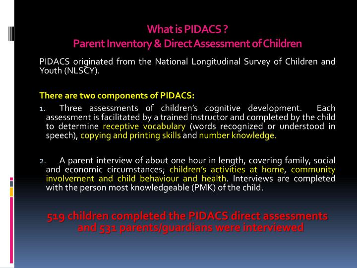What is PIDACS ?