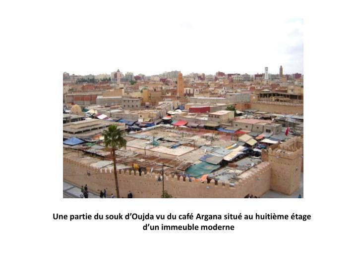 Une partie du souk d'Oujda vu du café