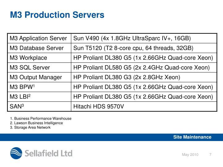 M3 Production Servers