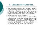 4 estatuto del voluntariado