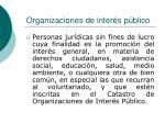 organizaciones de inter s p blico