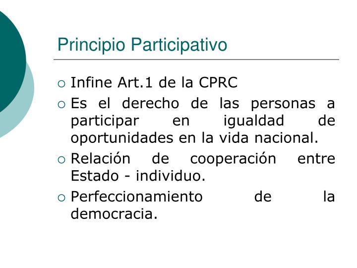 Principio Participativo