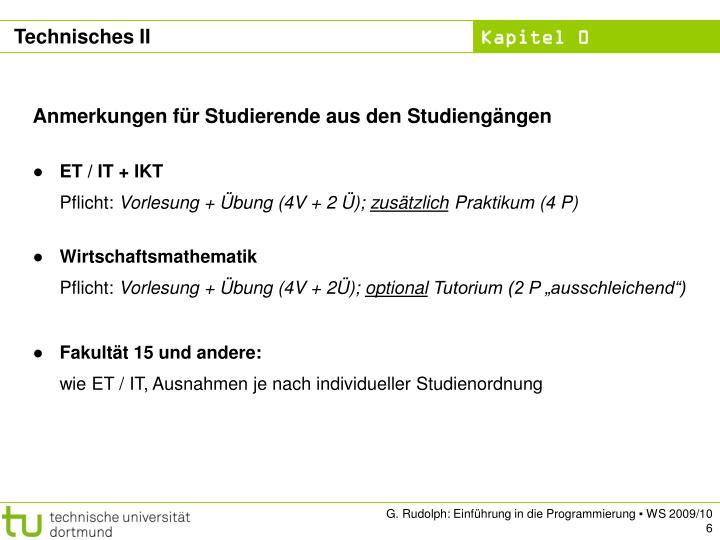 Technisches II
